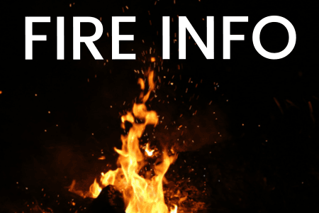 Photo of fire with the words &#34Fire Info&#34 on it.