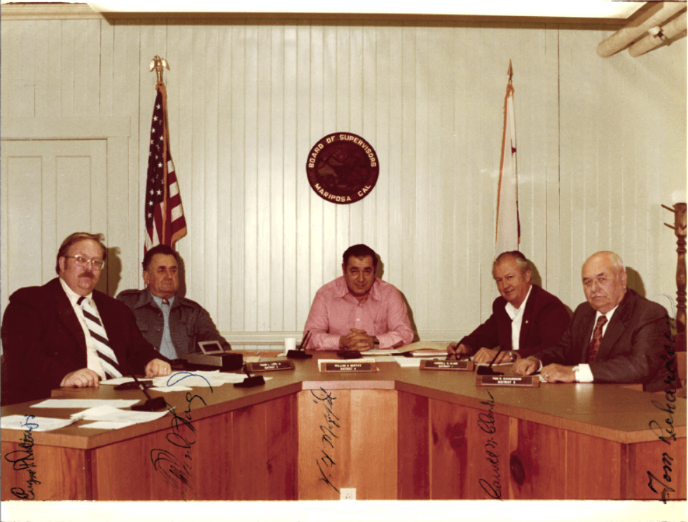 Photograph of the 1976 Board of Supervisors