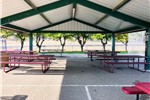 Photograph of covered picnic area