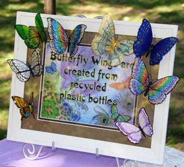 Local artist Stepanie Sullivan creates butterflies from beverage bottles..JPG