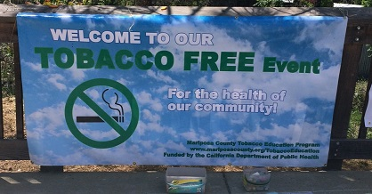 obacco free event banner