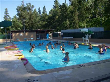 Aqua fitness at pool